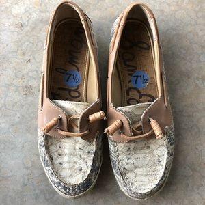 Sam Edelman snake boat shoes